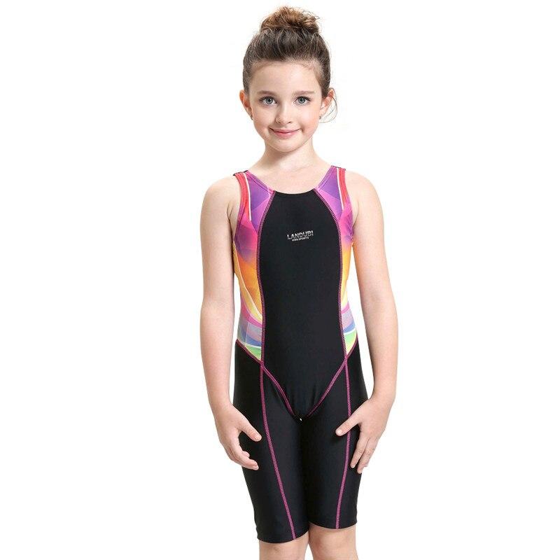 ФОТО Children Swimming Clothes 2016 Girls Sports Swimsuit One-piece Swimwear for Kids Swimming Suit Professional Girls Swimwear