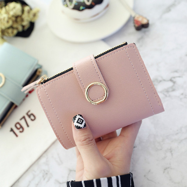 2019 Women Small Fashion Leather Wallets Women Ladies Card Bag Women Luxury Cute Wallet Zipper