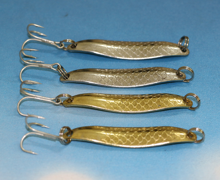 4 pieces fishing spoon metal lures bass culter catfish for Fly fishing lures for bass