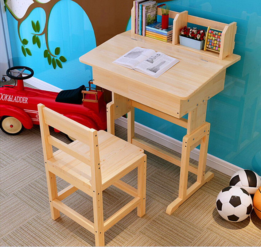 Non Free shipping Factory Direct Children Kids Wooden Study Table and Chair Set Study Desk Set Wood Furniture for Child-in Children Tables from Furniture on ... & Non Free shipping Factory Direct Children Kids Wooden Study Table ...