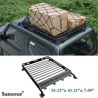 Newest 55 12 X 43 31 X 7 09 Roof Rack Basket Luggage Carrier Box Steel