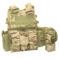 4 Colors Airsoft Vest Tactical Water Bag Tool Pouch Molle System Hunting Shooting Vest Men