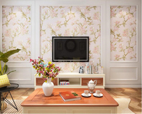 beibehang Stereo Wallpaper Pastoral Big Flower Country Living Room Backdrop Nonwoven 3d Wallpaper Bedroom Wedding Room tapety