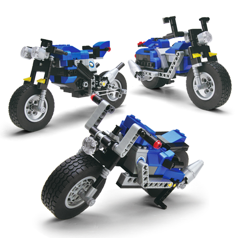 Model building kits compatible with lego city 3 in 1 motorcycle 3D blocks Educational model & building toys hobbies for children lepin 02012 city deepwater exploration vessel 60095 building blocks policeman toys children compatible with lego gift kid sets