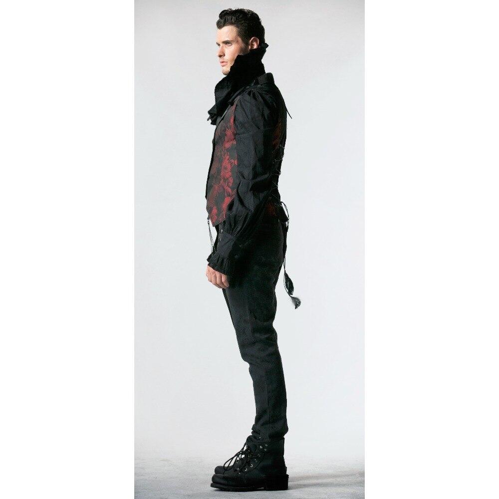 Punk Gothic Men Rave Visual Kei Vest Rock fashion clothing vampire Jacket Summer
