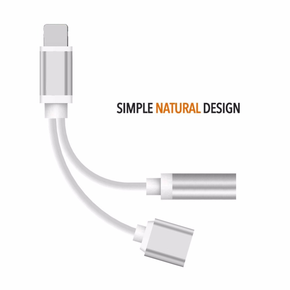 Top Quality 8 Pin To 3 5mm Audio Adapter For Iphone 7