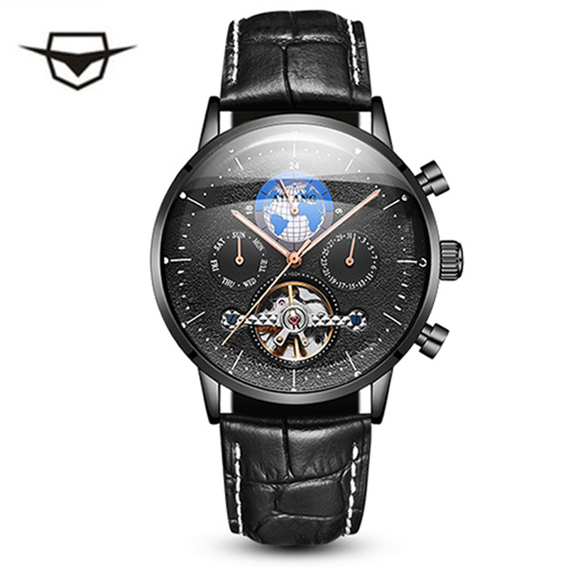 AILANG fashion mens watches top brand luxury chronograph mechanical wirst watch men Tourbillon Watch Switzerland Timepieces ailang mens watches top brand luxury sports double tourbillon automatic mechanical brand watch men genuine leather strap watches