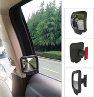 DEDC 2pcs Pair Adjustable Blind Spot Mirrors Rearview Mirror Stick Wide Angle Car Side View Convex