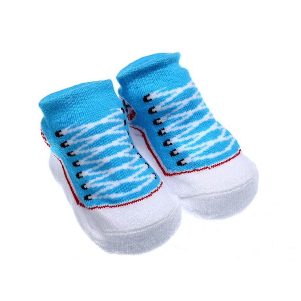 687fcf0311 US $1.99  Infant Toddler Baby Boy Girls Socks That Look Like Shoes Anti  slip Cotton Indoor Sock 0 9months Peace Socks Black Pink Gray Red-in Socks  ...