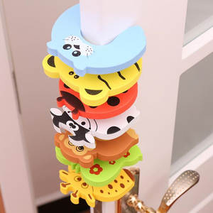 Lock-Protection Door-Stopper Security-Card Newborn-Care Animal Baby-Safety Child Cute