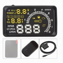 5.5 Inch Auto Hud Head Up Display OBD2 Ii Overspeed Waarschuwing Systeem Projector Auto Temperatuur Snelheid Alarm