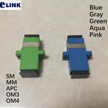 Волокно SC адаптер Simplex apc синий серый зеленый Оптическое волокно муфта одномодовый SM ММ разъем FTTH пластиковый корпус ELINK SC-SC