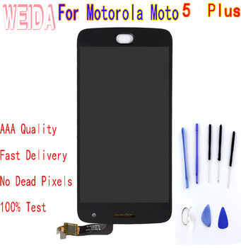 For Motorola Moto G5 Plus LCD Display Touch Screen Digitizer Assembly Without Frame with free tool цена 2017