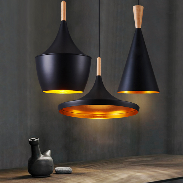 Slope indoor wrought iron lampshade LS01 retro retro Edison modern chandelier LED ceiling living room bedroom home lamp