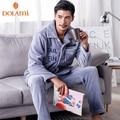 Winter Warm Thick Coral Fleece Men Pajamas Sets Luxury Flannel Pijama Sleepwear Long Sleeve Male Thermal Nightwear Top Quality