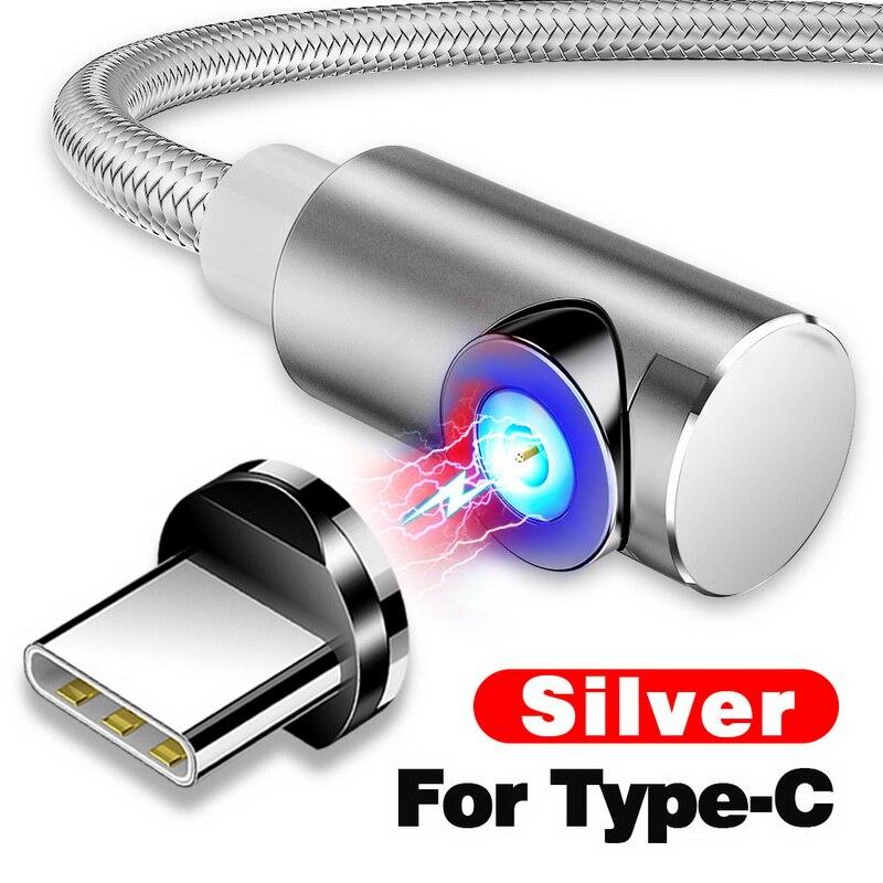 INIU 2 м Магнитный кабель Micro Тип usb C Зарядное устройство для зарядки для iPhone XS X XR 8 7 samsung S8 магнит Android телефонный кабель Шнур - Цвет: For Type C Silver