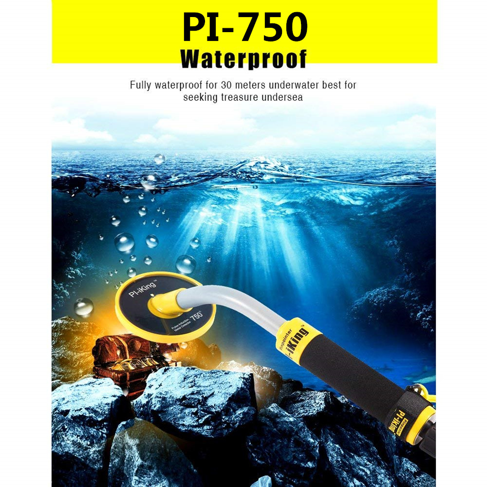 New Arrival PI IKing Pulse Induction 750 Underwater PinPointer 30M Fully Waterproof Metal Detector with Vibration LED Indication