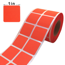 Coding dot label in Fluorescent red color 1 Inch Square Dot Label stickers self-adhesive sticker for promotional decor