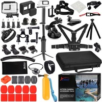 Husiway Accessories Set for Gopro hero 7 6 5 Black Waterproof Housing Silicone Case Screen Lens Protector 57A