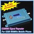ЖК-Дисплей! GSM 900 МГц Мобильного Телефона GSM980 Усилитель Сигнала, сотовый Телефон GSM Сигнал Повторителя Усилитель + Адаптер Питания
