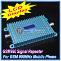 Display LCD!!! GSM 900 Mhz Mobile Phone Signal Booster GSM980, Telefone celular GSM Repetidor de Sinal Amplificador + Power Adapter