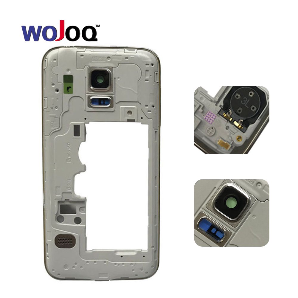 Original New Housing Case For Samsung S5 Mini Compact G800 Middle Frame Bezel Chassis Replacement Parts Repair