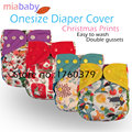 Miababy  Onesize cloth diaper cover,work with insert or fitted diaper,waterproof and breathable, easy to wash off the solid
