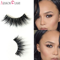NEW Arison Eyelashes Mink Hair Transparent Plastic 1 Pair 3D Luxurious Thick & Full Strip False Eyelashes Natural For Make Up