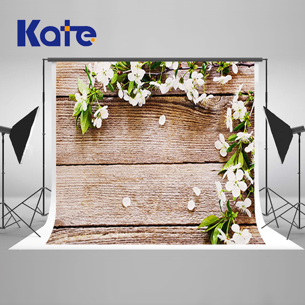 10X10FT Kate Flores Wood Photography Backdrops White Wood Photography Background Photocall Wedding Fondos Fotograficos Vintage