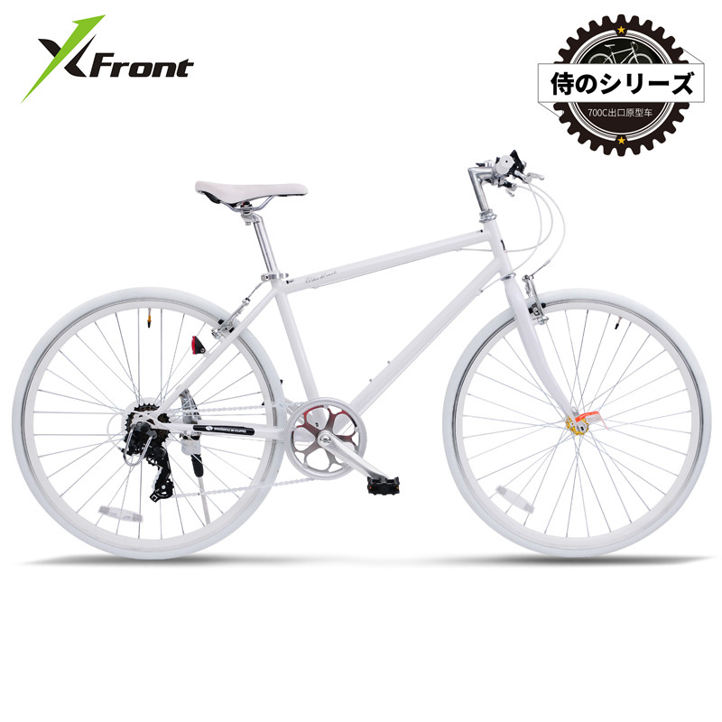 New Road Bike Carbon Steel Frame SHIMAN0 7 Speed Dual V Brake 700CC Quick Release Front Wheel Bicycle Outdoor Sports Bicicleta