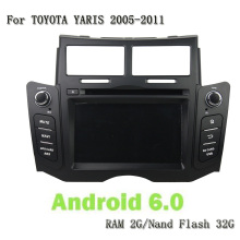 Android 6.0 8 Core 6.2 inch Double DIN Car GPS Navi DVD Player Bluetooth Stereo RDS Multimedia for Toyota YARIS 2005-2011