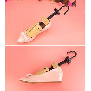 Image 4 - Unisex Cedar Wooden Boots Shoe Tree Women Mens Shoes Stretcher Expander Shaper Keeper Adjustable 2 Ways EU 35 46