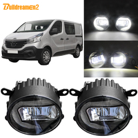 Buildreamen2 For Renault Trafic 2003 2004 2005 2006 Car 2in1 Function LED Projector Fog Light + Daytime Running Light 12V