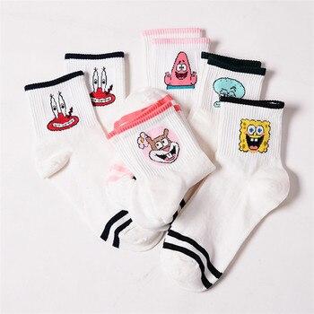 Fashion Cartoon Character Cute Short Socks Women Harajuku Cute Patterned Ankle Socks Funny Hipster Skatebord Ankle Female Sox