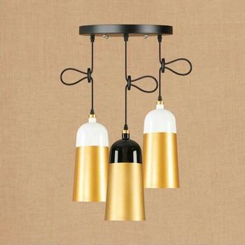Nordic Postmodernism Creative Mix Color Peandant Light Retro Iron Dining Light Cafe / Pub Light Free Shipping