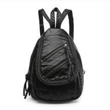 2017 модные женские туфли рюкзак высокое качество искусственная кожа Школа Черный Сумки девочек топ-ручка Рюкзаки Herald Бесплатная доставка