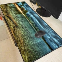 Mairuige Ocean Beach Large Gaming Mouse Pad Lock Edge Mouse Mat Keyboard Table Mat Desk Mat for Notebook Laptop Gamer Mousepad anti slip large gaming desktop pad colorful blotter mat keyboard mat table mat desk mat for notebook laptop writing clipboard