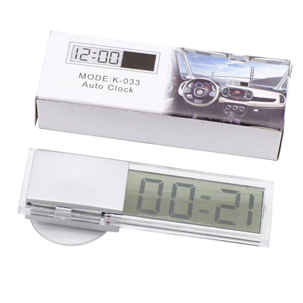 Car Electronic Clock TOP Quality Mini Digital Car Electronic Clock Durable Transparent LCD Display Digital With Sucker Universal