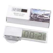 Car Electronic Clock TOP Quality Mini Digital Car Electronic Clock Durable Transparent LCD Display Digital With Sucker Universal