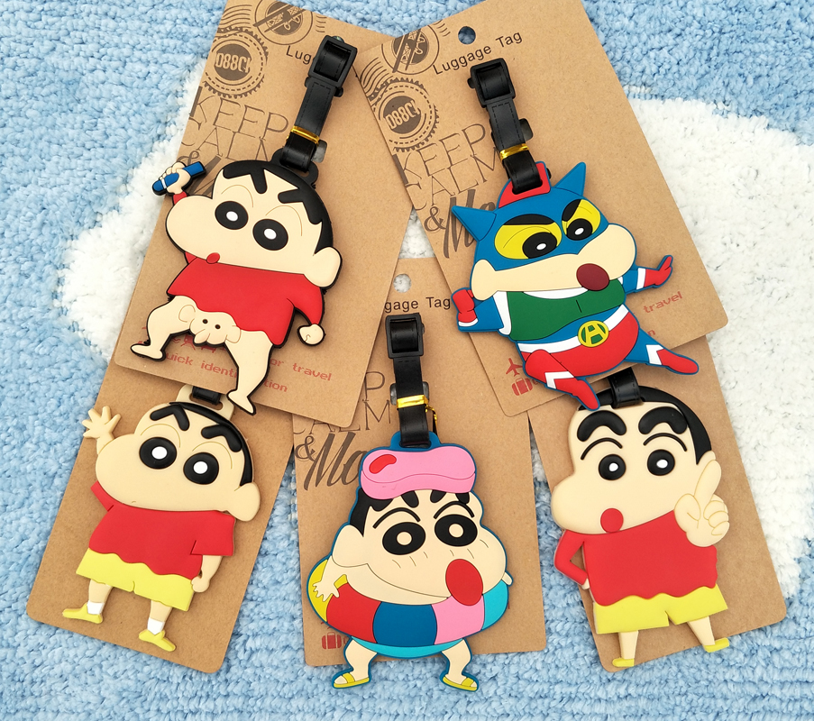 IVYYE Crayon Shin-chan Anime Travel Accessories Luggage Tag Suitcase ID Address Portable Tags Holder Baggage Label New