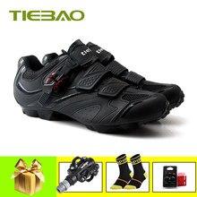 TIEBAO-Zapatillas de Ciclismo de montaña para hombre y mujer, zapatos deportivos con autosujeción, para equitación, modelo SPD 2019