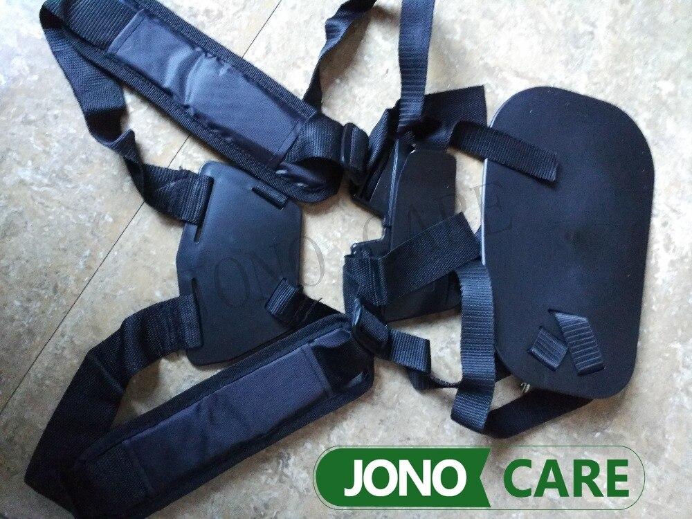 Brush Cutter Strap Belt Trimmers Harness Double Shoulder with Confortable Shoulder Pads Leg Protection Panel winnwell gx 4 jr shoulder pads
