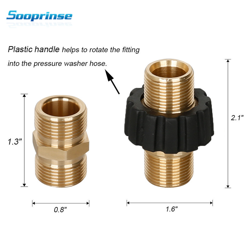 Image 2 - Sooprinse high Pressure Washer Hose Quick Connector, M22 Metric Male Thread Fitting,tornador car accessories Garden Hose Fitting-in Water Gun & Snow Foam Lance from Automobiles & Motorcycles
