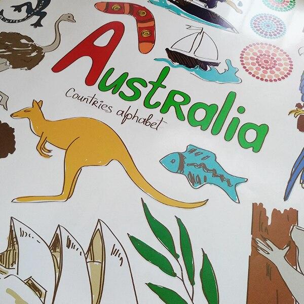 Австралия Суреттер Туризм Word Landmark Wall - Үйдің декоры - фото 3