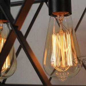 Image 5 - Ретро Винтаж подвесные светильники промышленные освещение бар Кухня гладить Lampara Colgante де TECHO светильники Светильник Подвесной Светильник