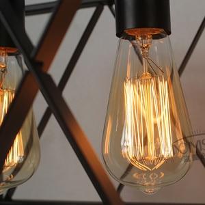 Image 5 - 레트로 빈티지 펜던트 조명 산업 조명 바 부엌 철 lampara colgante 드 수첩 조명기구 조명기구 펜던트 램프