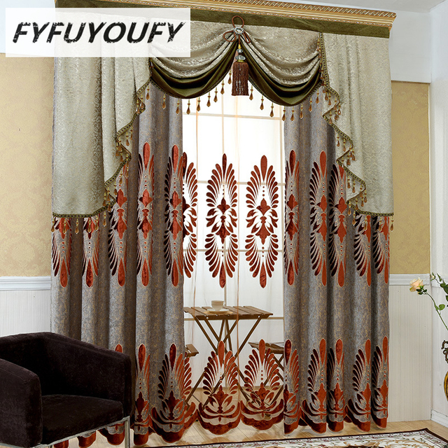 custom window curtains sunroom window europe luxury embroidered custom window curtains for living room kitchen classic grayblackout curtain french treatments