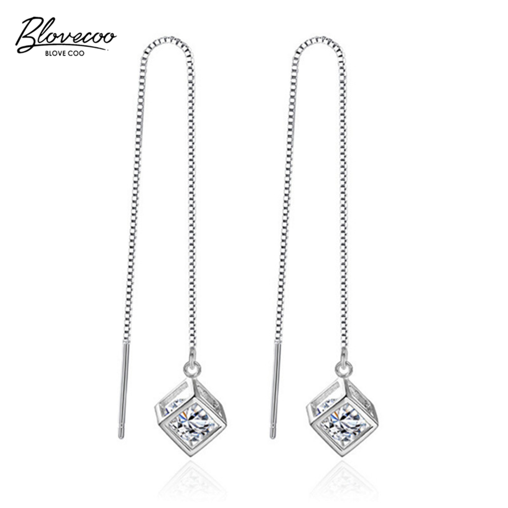 Brand fashion silver jewelry female luxury AAA zircon Drop