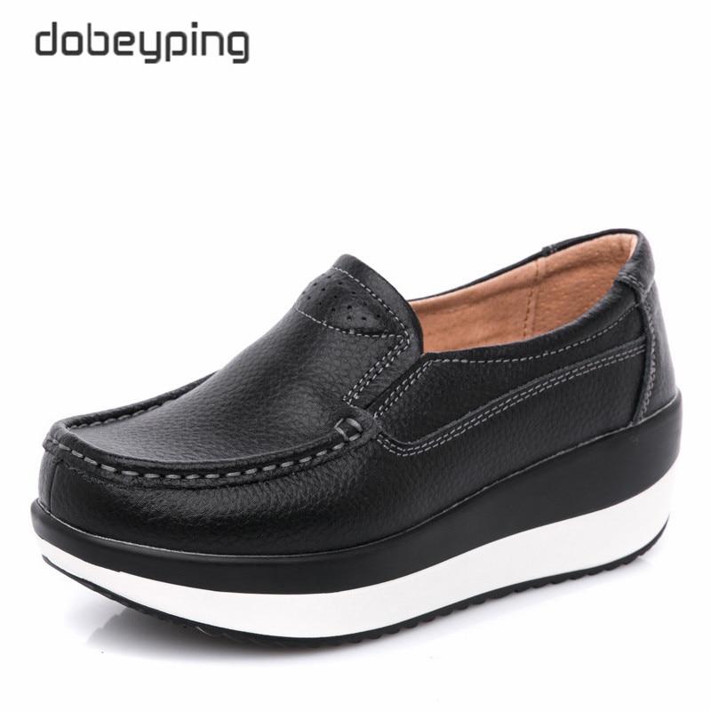 Dobeyping женская обувь из натуральной кожи, женская обувь на плоской платформе, Мокасины, женские лоферы, женские кроссовки на танкетке, женская обувь|Обувь без каблука|   | АлиЭкспресс