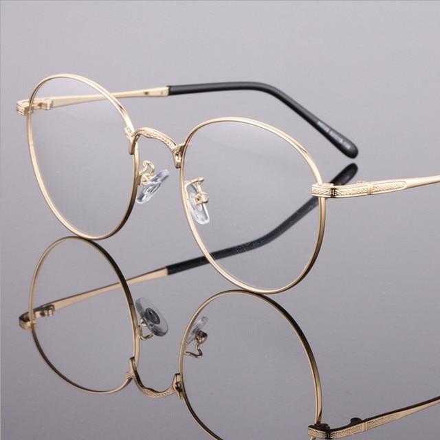 ff0c50245075 Moda restaurar maneras antiguas gafas redondas de Metal de la aleación  circular gafas hombres y mujeres